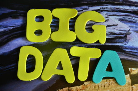 word big data on an abstract background