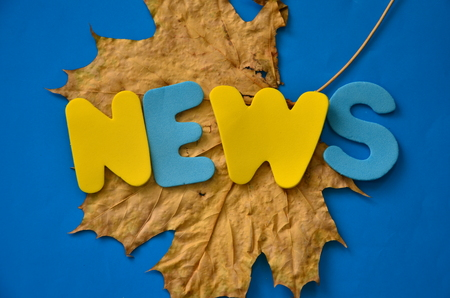 word news on an abstract background