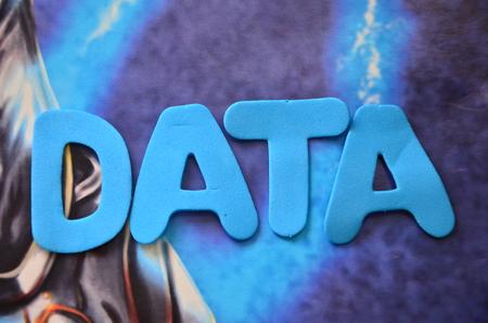 word data Stock Photo