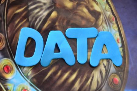 word data Zdjęcie Seryjne