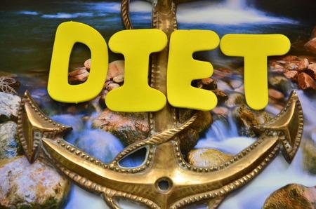 word diet background.