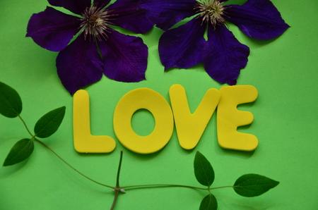 word love Stockfoto