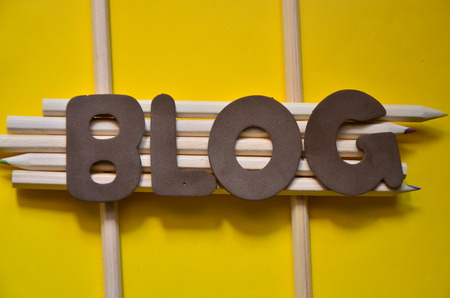 WORD BLOG with yellow background