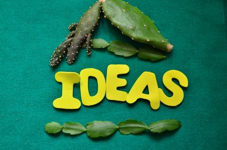 word ideas Banco de Imagens