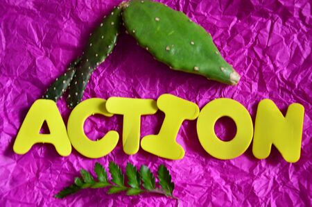 word action Stock Photo