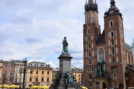 church MARIACKI ..IN KRAKOW 写真素材