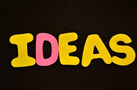 word ideas Banque d'images