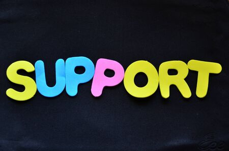 WORD SUPPORT Banque d'images