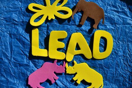 Lead word background. Zdjęcie Seryjne