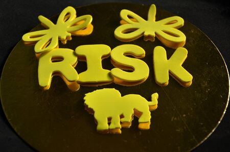 Risk word background.