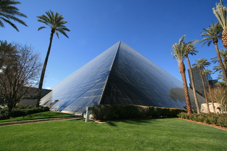 Magnificent glass pyramid at Las Vegas