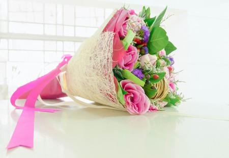 Sweet pastel beautiful bouquet photo