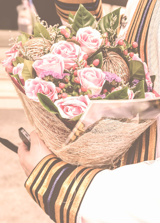 bouquet fleur: Style vintage d'obtention du dipl�me et beau bouquet de fleurs