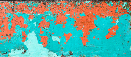 image from texture of rusty metal with an old peeling paint photo