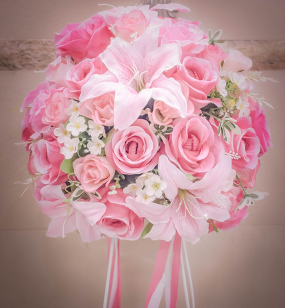 luxury romantic flowers ball photo