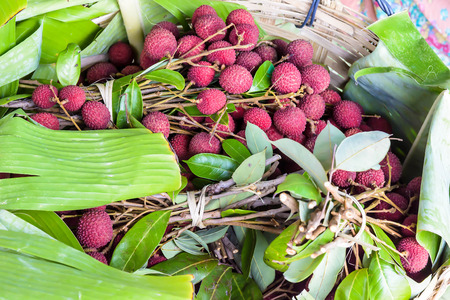 amphawa: Lychee fruit famous Amphawa Thailand, its  summer fruit
