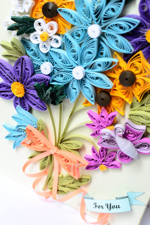 A flowers made from paper stripes its name quilling paper stock a flowers made from paper stripes its name quilling paper stock photo 35010591 mightylinksfo