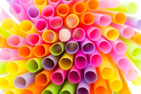 straws: Bright colors of straws Stock Photo