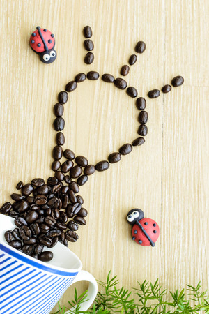 short phrase: refresh your idea with good coffee Stock Photo