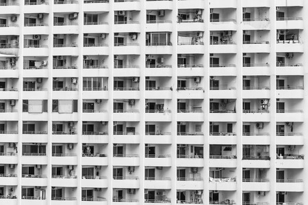 odd one out: pattern from condominium building