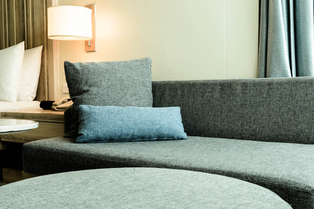 Sofa style modern  in the hotel photo