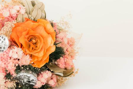 flores secas: hermoso ramo de flores secas