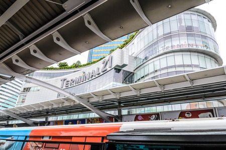 BANGKOK Termianal 21 SHOPPING MALL June 14 2014 :Photos on Skytrain Asoke Station This one of the famous shopping mall in Bangkok, Thailand. This department has been awarded Asia Pacific Shopping Center (ICSC) Award in the field of digital Margeting Ponti