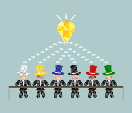 Anders, maar creatief. Meeting team. Brainstorm