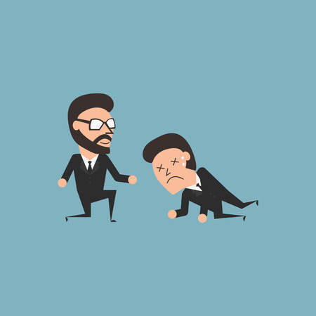 high spirits: Friendship and spiritual in business conceptual. Flat illustration.