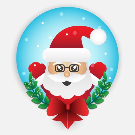 Cute santa claus element for christmas decoration. Vector illustration design. Illustration