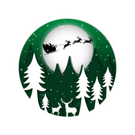 Night christmas background. Vector illustration design.