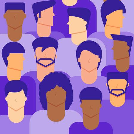 Men citizen background. Diversity concept. 向量圖像