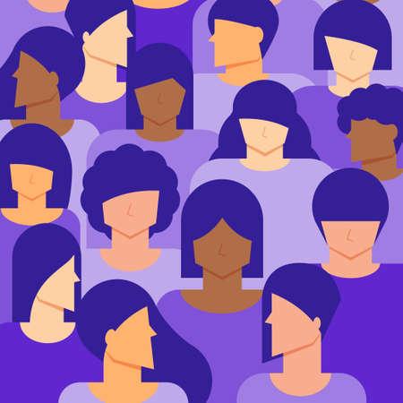 Women citizen background. Diversity concept.