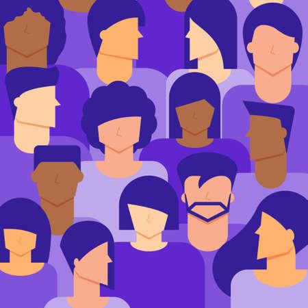 Men and Women citizen background. Diversity concept.