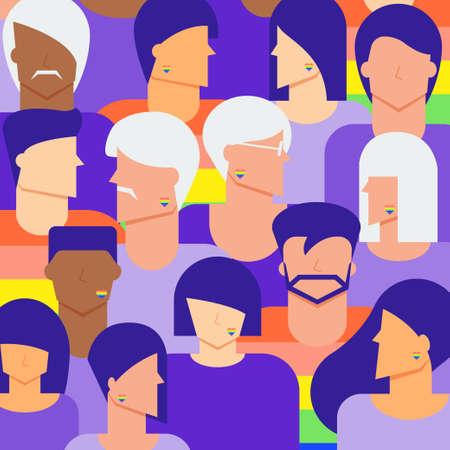 Diversity LGBTQ people background.