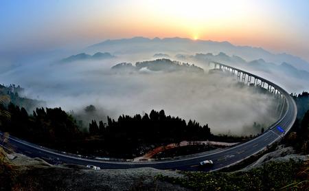 Chongqing Cattle mountain scenery Imagens - 35365714