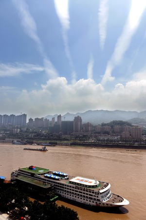 yangtze: Scenery of Yangtze River at Chongqing, China