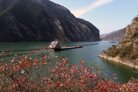 yangtze: Scenery of Yangtze River at Qutang Gorge, China Stock Photo
