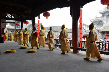 home accent: Chinese traditional performance in Chongqing Editorial