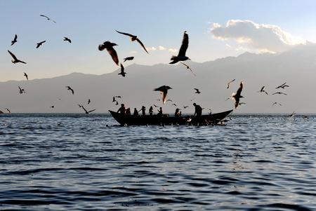 yunnan: Scenery at Erhai Lake of Yunnan province Stock Photo