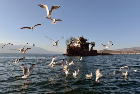 yunnan: Erhai Lake in Yunnan province Stock Photo
