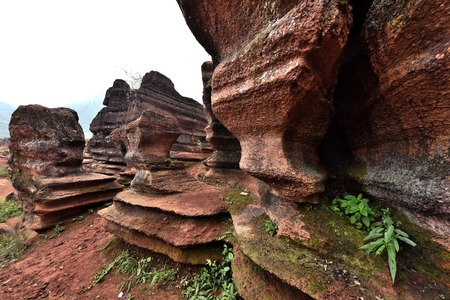 red stone: Youyang County of Chongqing Red Stone Forest