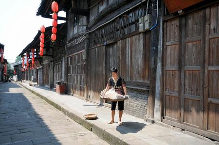 big scenery: Traditional village---big in Chongqing, China town Editorial