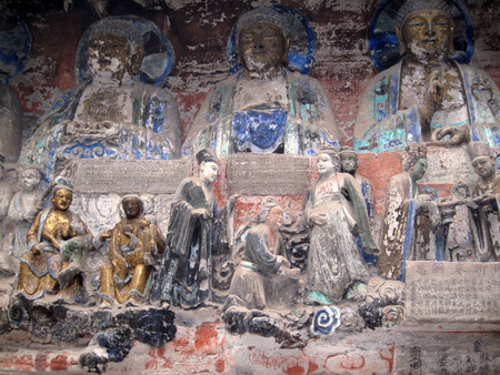 carved stone: Chongqing Tourism - China Baodingshan carved stone Buddha of Dazu stone