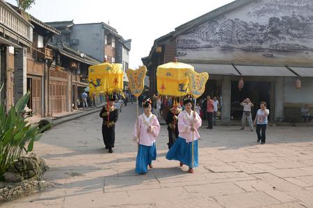 parade: Parade at Chongqing Anju town Editorial