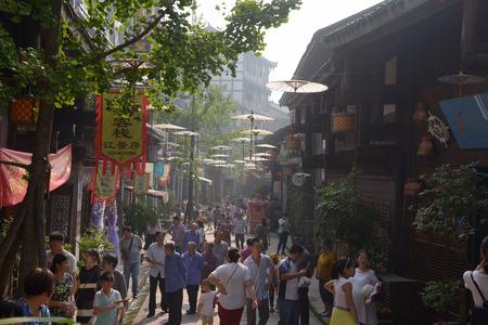 Chongqing anju town street view Redakční