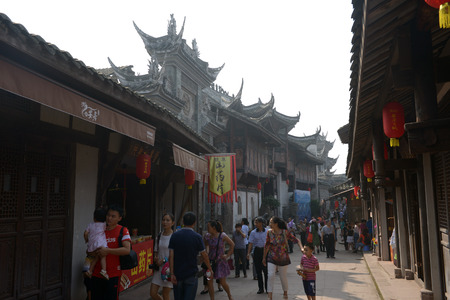Chongqing Anju town street view