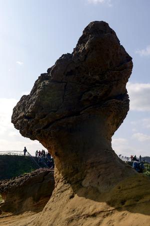 Wild willow geological park landscape - mushroom stone Stock Photo