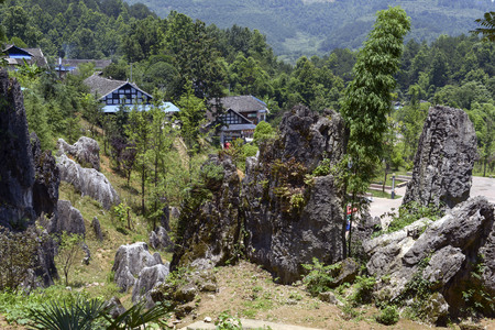 Sinan Stone Forest, Guizhou Imagens - 106525274