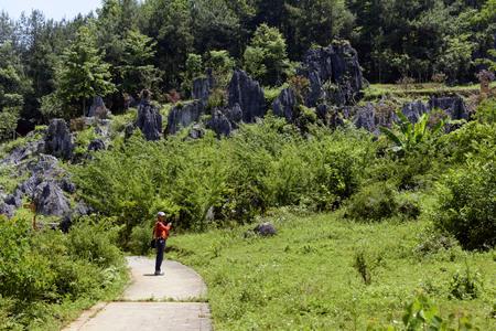 Sinan Stone Forest, Guizhou Imagens - 106544109